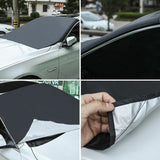 Magnetic Car Windshield Snow Cover Winter Ice Frost Guard Sunshade Protector