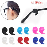 4/10 Pairs Glasses Ear Hook Eyeglasses Accessories Anti Slip Temple Holder Fixed Leg Grip Sports Temple Tips Glasses Ear Hooks