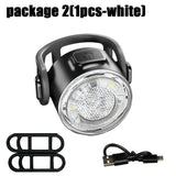 USB Rechargeable Bike Light Set,Super Bright Front Headlight and Rear LED Bicycle Light,4 Light Mode Options, Water Resistant IPX4(2 USB Cables and 4 Strap Included)