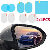 2/4PCS Screen Protector for Rear View Mirror Car Rearview Mirror Protective Film HD Anti-Fog Nano Coating Rainproof Film Anti-glare Anti-scratch