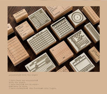 Load image into Gallery viewer, 1pc Wooden Seal Basic Handwritten Seal Number Wooden Timetable Seal Calendar Stamp for Planner
