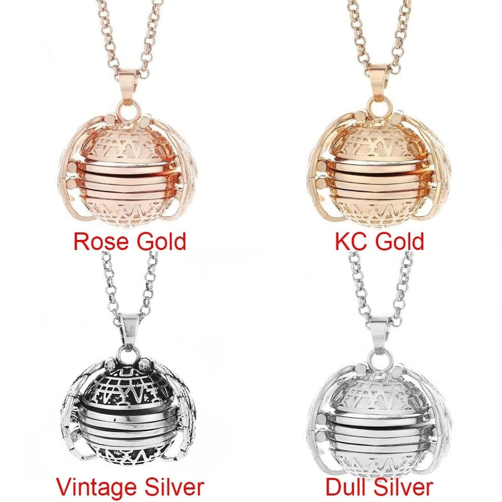 4 Photo Floating Locket Pendant Necklace Locket Necklace Magic Flash Box Necklaces