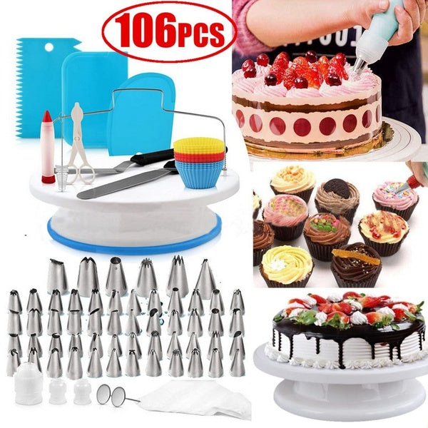 106pcs Cake Decorating Supplies Kit Cake Baking Accessories Tool