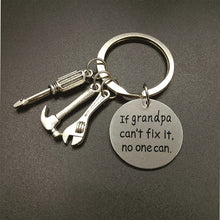 Load image into Gallery viewer, If Grandpa Can't Fix It, No One Can - Keychain for Grandpa or Dad -- Mechanic Grandpa or Dad Daddy Keyring,Gift for Dad