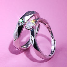 Load image into Gallery viewer, Her King His queen Fashion Matching Set Couple Rings His Queen and Her King Stainless Steel Promise Rings Engagement Band Valentine's Day Gifts