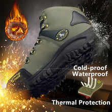 Load image into Gallery viewer, Winter Men High Quality Mountain Climbing Boot with Thermal Protection and Cold-proof Functions Safety Work Shoes Snow Boots Waterproof and Anti-smashing Hiking Shoes