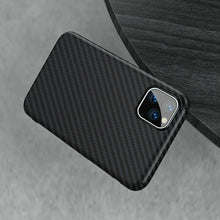 Load image into Gallery viewer, Luxurious real carbon fiber 0.2mm slim protective case for iPhone11/11 Pro/11 Pro Max