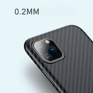 Luxurious real carbon fiber 0.2mm slim protective case for iPhone11/11 Pro/11 Pro Max