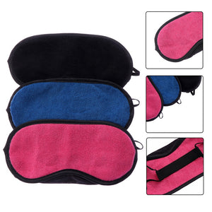 Nude Travel Tool Soft Padded Sleep Relax Aid Towel Goggles Shading Eye Patch Eye Mask Sleep Blindfold