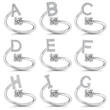 Load image into Gallery viewer, Adjustable Open Classic Alphabet Rings Women Letter Exquisite Jewelry