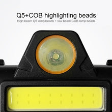 Load image into Gallery viewer, New Outdoor Camping Portable Mini COB LED Headlamp USB Charging Fishing Headlights Flashlight