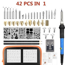 Load image into Gallery viewer, New 9/29/42/52/71PCS IN 1 AU/US/EU/UK Plug 110V 220V 60W Wood Burning Pen Set Stencil Soldering Tips Tools Pyrography Kit