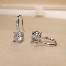 Load image into Gallery viewer, 18k white gold diamond stud earrings for wedding  & Bridal Jewelry