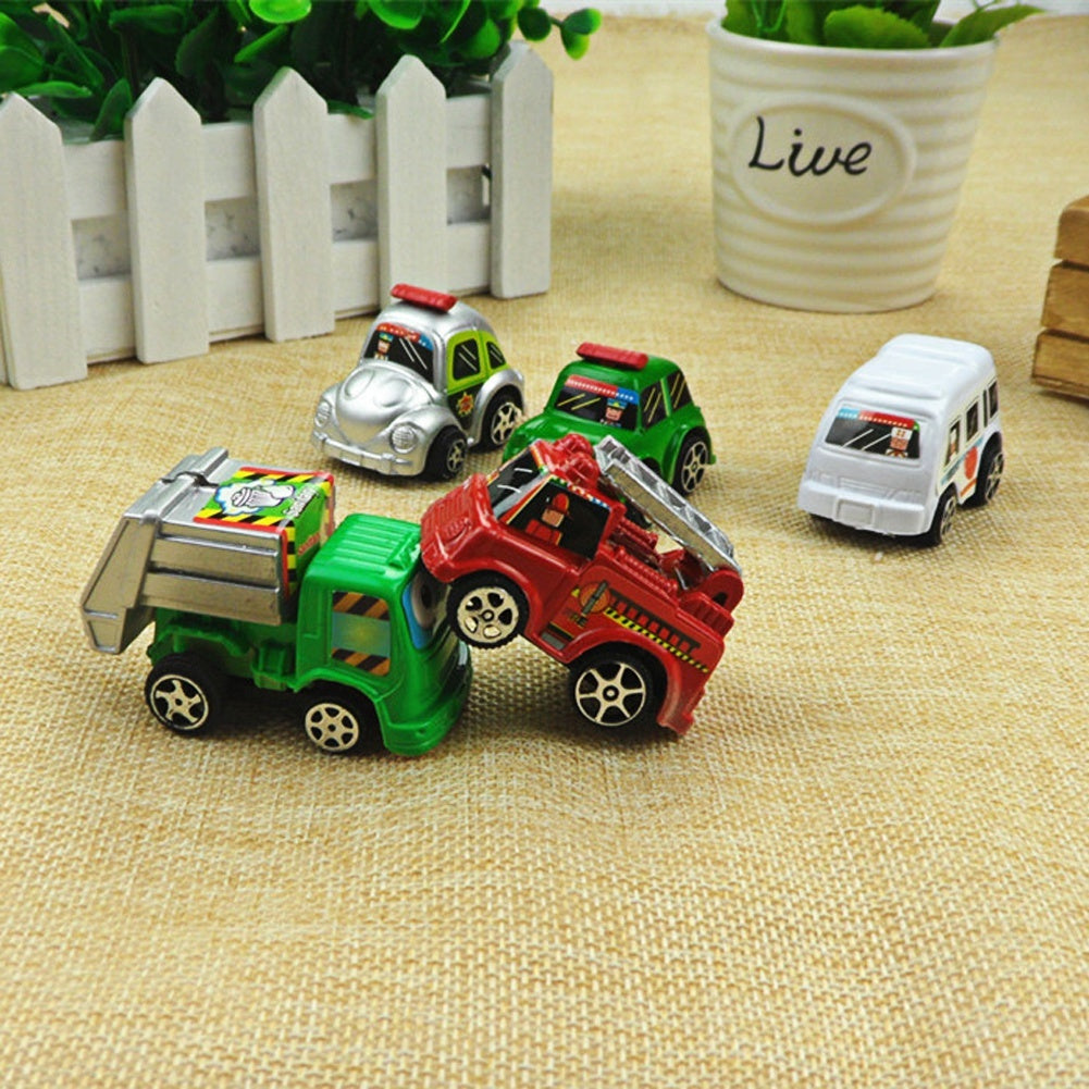 6pcs Wheels Car 100% Original Basic Car Toy Mini Alloy Collectible Model Pull Back Cars Toy For Children Boys Gift