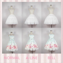Load image into Gallery viewer, Women Lolita Skirts Vintage Petticoat Adjustable Gown Underskirt Tutu Skirt