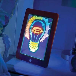 Portable 3D Light Magic Drawing Pad LED Writing Board Drawing Pad Doodle Art Write Kids Drawing Toys