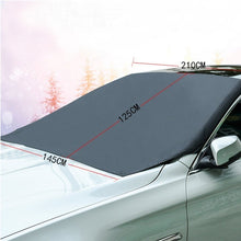 Load image into Gallery viewer, Magnetic Edges Car Snow Cover Windshield Frost Guard Protector Sun Shade Cover Waterproof Car/Truck/SUV
