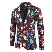 Load image into Gallery viewer, 2019 New Men Fashion Tops Suits Blazers Jacket Party Dress Evening Blazer African Style Pattern Print Christmas Slim Fit Suit for Men