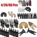 Wood Cutting Tool Set Mix Oscillating Saw Blades Compatible for Fein Bosch Ryobi Challenge Multimaster Multitool