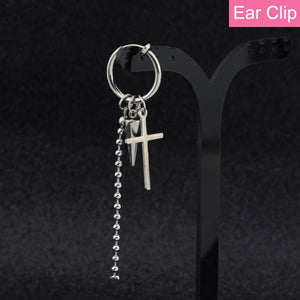 1Pc New Kpop Bts Bangtan Boys Earrings Jimin Long Tassels Cross Earrings Girls Ear Stud Jewelry Accessories