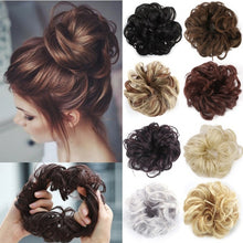 Load image into Gallery viewer, 2019 Women Fashion Synthetic Hair Pony Tail Hair Extension Bun Hairpiece Scrunchie Elastic Wedding Wave Curly