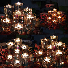 Load image into Gallery viewer, 1/3 Pcs Crystal Glass Candle Holder Set Crystal Candlelight Dinner Candle Holder Creative Ornament For Home Dining Table And Bar