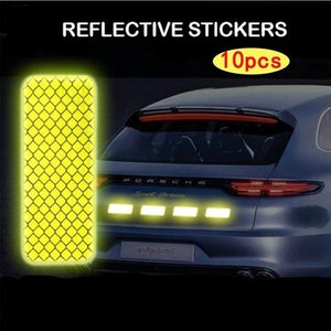 Diamond-grade reflective stickers for automobiles, motorcycles, electric vehicles, bicycles, reflective film facilitates scratches shielding by reflective film