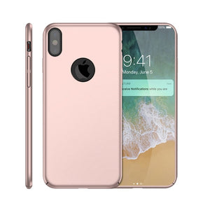 New Ultra Thin Slim Shockproof Hard Back PC Matte Phone Cellphone Case Cover Shell Skin + Free Film Screen Protector For Apple iPhone 11 Pro Max X XR XS MAX 8 Plus 7 Plus 6 6s Se 5s 5