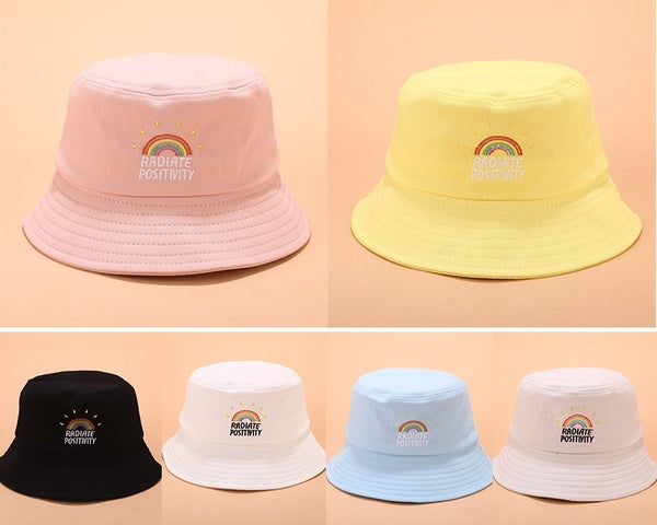 Fashion Bucket Hat Embroidery Unisex Fashion Bob Cap Hip Hop Gorro Men Summer Caps Beach Sun Party Street Headwear Plain Hat Unisex Hip-Hop Hat Panama Hat Fisherman Caps Bucket Hats Visor Caps