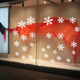 27pcs/set Snowflake Christmas Decoration Reusable White Snowflake Window Stickers Self-Adhesive Decorations Xmas Home Decor