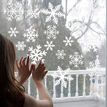 Load image into Gallery viewer, 27pcs/set Snowflake Christmas Decoration Reusable White Snowflake Window Stickers Self-Adhesive Decorations Xmas Home Decor
