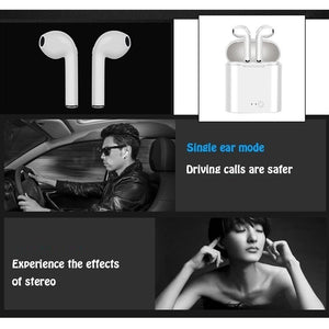 I7s TWS Headset Running Sport Noise Cancelling Stereo Audio Hand-free In-ear Wireless Bluetooth Single or Twin Earbuds with Or Without Battery Charging Box