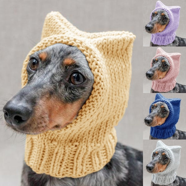 New Design Dog Hat Pet Dog Cap for Dog Winter Poodle Chihuahua Collie Neck Protect Hat Pet Outfit Knitting Warm Solid Color Puppy Hat Pet Supplies Puppy Accessories S-5XL 5 Colors