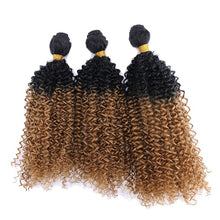 Load image into Gallery viewer, 3 Bundles/Set Ombre Deep Wave Brazilian Hair Weave Bundles Three Tone Ombre Blonde Hair Virgin Extensions Weave 8-30 Inch