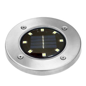 4/8/12 LED 3Colors Solar Power Buried Light Ground Path Way Garden Decking Light