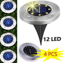 Load image into Gallery viewer, 4/8/12 LED 3Colors Solar Power Buried Light Ground Path Way Garden Decking Light