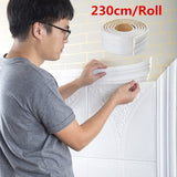 230CM 3D Self Adhesive Wall Trim Line Border Stickers Waterproof DIY Home Wallpaper