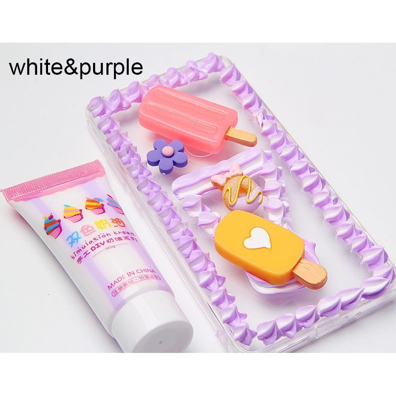 6Colors Simulation Double Color Cream Glue Toys Air Dry Clay Playdough Tools  DIY Glue Mud Mobile Shell Decoration Materials