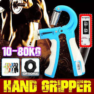 [Upgrade Countable ]10-80Kg /50LB Adjustable Heavy Gripper Fitness Hand Exerciser Grip Wrist Increase Strength Spring Finger Pinch Carpal Expander