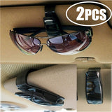 Universal sunglasses glasses car sun visor fixed clip ticket receipt folder storage rack car auto parts