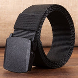 Men's Outdoor Sports Military Tactical Nylon Waistband Canvas Web Belt Dazzling