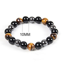 Load image into Gallery viewer, 8/10mm Tiger Eye & Hematite & Black Obsidian Stone Bead Bracelet Men Bracelet Jewelry Gift