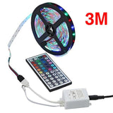 3/5/10M 3528 SMD RGB 600 LED Strip Light String Tape+44 Key IR Remote Control