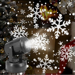 1PC Snowfall Projector Christmas Led Lights - Snowflakes Projector Snowfall LED Lights Snow LED Projection Lamp For Holiday New Year Xmas Party