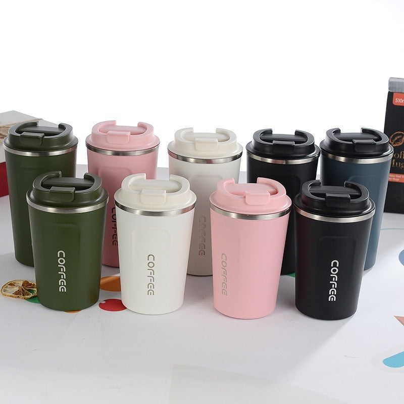 New Style Double Stainless Steel 304 Coffee Mug Car Thermos Mug Tea Cup Travel Thermo Cup Creative Gifts
