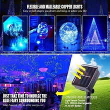 Load image into Gallery viewer, 50/100/200 LEDs USB/Solar String Lights 8 Modes Solar Powered Copper Wire Fairy Lights IP65 Waterproof Indoor Outdoor Lighting for Home, Garden, Party, Path, Bedroom, Wedding, Christmas, DIY Decoration