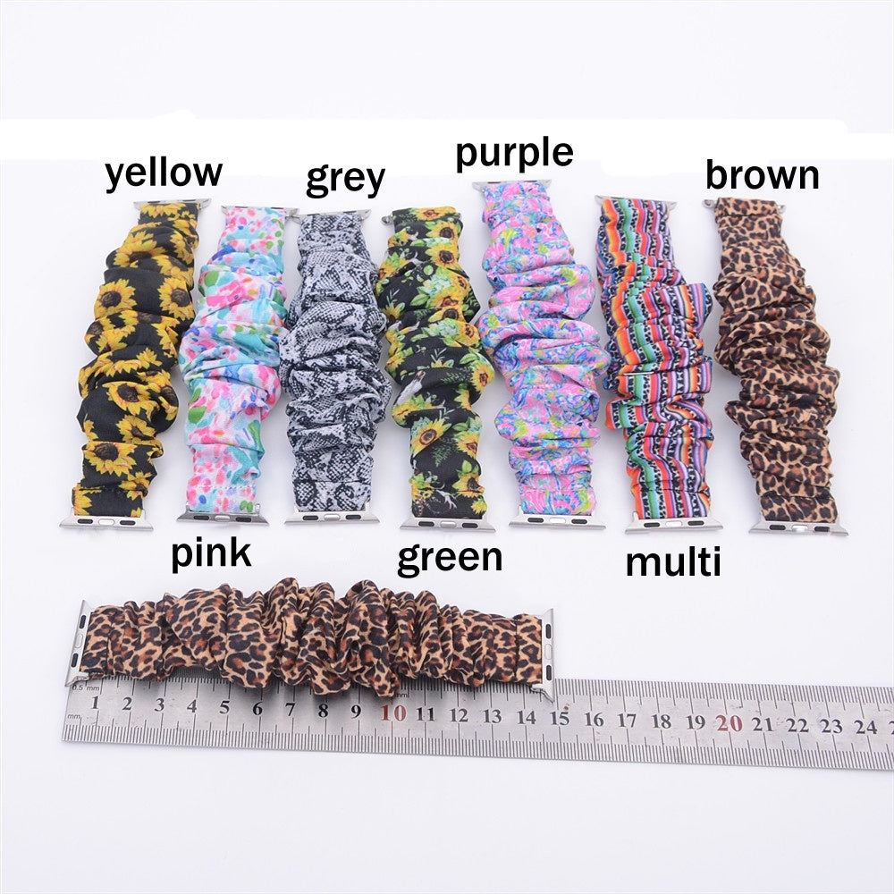 Scrunchie Watch Bands for Apple Watch Band 38mm 42mm Floral Iwatch Strap for Women