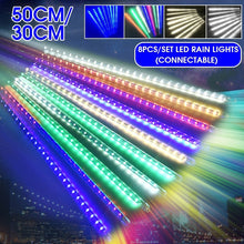 Load image into Gallery viewer, 6/8pcs 192LED 30CM / 288 LED 50CM Curtain Fairy Lights Home Party String Lamp Christmas IP65 Waterproof