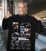 Load image into Gallery viewer, 18 Years of Fast and Furious Signature Thank You for The Memories Awesome T-Shirt