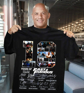18 Years of Fast and Furious Signature Thank You for The Memories Awesome T-Shirt